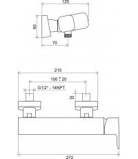 Смеситель для душа Ravak 10°, X070066