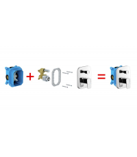 Смеситель скрытого монтажа с переключателем Ravak 10° для R-box, X070070